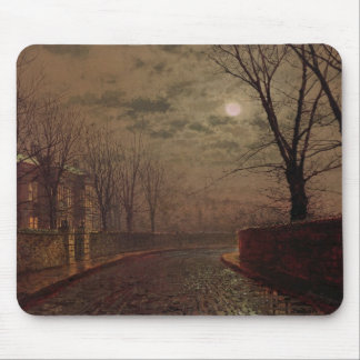 Moonlit Street Scene, 1882 (oil on canvas) Mouse Mat