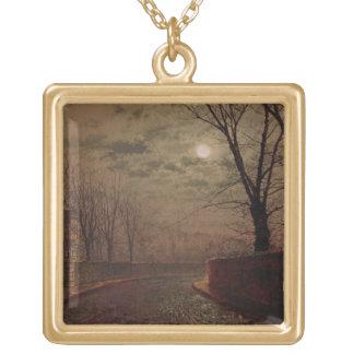 Moonlit Street Scene, 1882 (oil on canvas) Necklaces