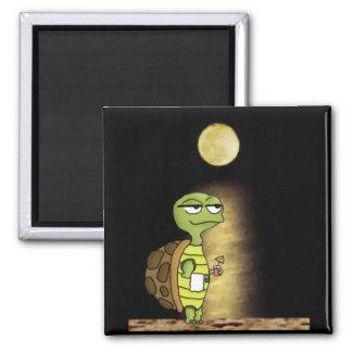 Moonlit Tortoise Square Magnet