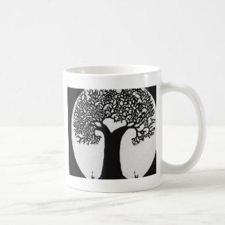 Moonlit Tree Basic White Mug