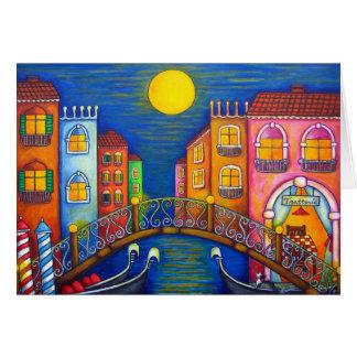Moonlit Venice Greeting Card