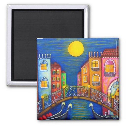 Moonlit Venice Magnet