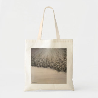 Moonlit Winter Night Tote Bag