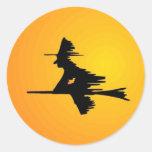 Moonlit Witch Round Stickers