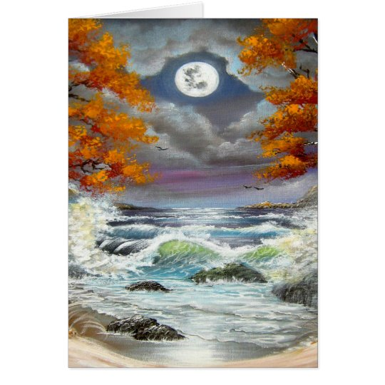 Moonlite Seascape Card