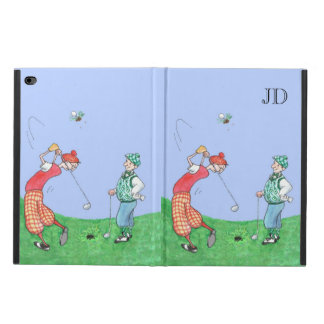 MoOnogrammed Funny Golfers Cartoon Illustration Powis iPad Air 2 Case