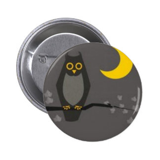 moonowl 6 cm round badge