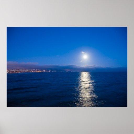Moonrise at Newport Poster