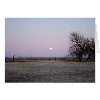 Moonrise in Kansas Card