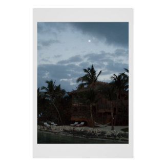 Moonrise On The Island Poster