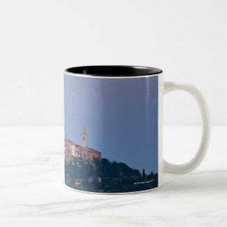 Moonrise over Pienza Two-Tone Coffee Mug