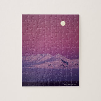 Moonrise Over Snowy Mountain Jigsaw Puzzle