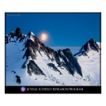 Moonrise over the Mountains Poster