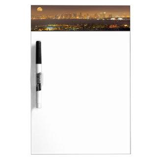 Moonrise over the San Diego skyline Dry Erase Boards