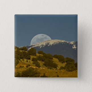 Moonrise over the Sangre de Cristo Mountains, 15 Cm Square Badge
