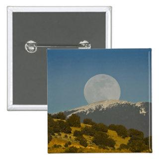 Moonrise over the Sangre de Cristo Mountains, 15 Cm Square Badge