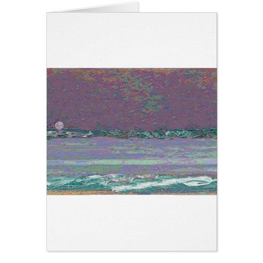 Moonrise Seascape Card