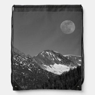 Moonrise, Sierra-Nevada, Glacier Point Vista Drawstring Bag