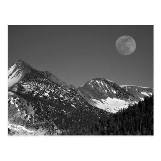 Moonrise, Sierra-Nevada, Glacier Point Vista Postcard