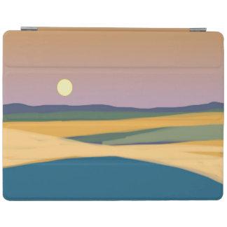 Moonrise simple landscape art iPad cover