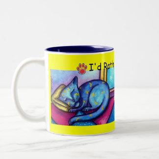 Moons and Stars Cat Two-Tone Coffee Mug
