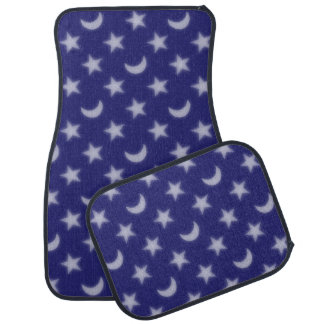 Moons and stars pattern car mat