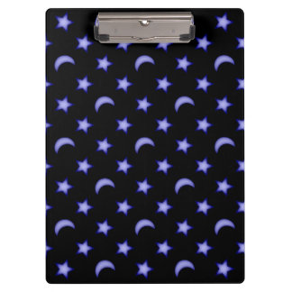 Moons and stars pattern clipboard