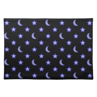 Moons and stars pattern placemat