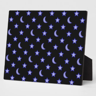 Moons and stars pattern plaque