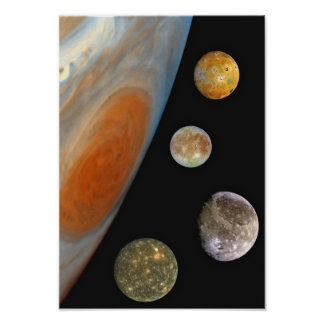 Moons of Jupiter Poster Print