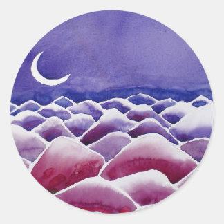 moonscape II Round Sticker
