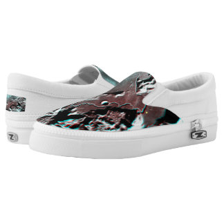 Moonscape Space Photo Anaglyph Hadley Channel Slip-On Shoes