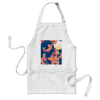 Moonscape with butterflies - coral, teal blue aprons