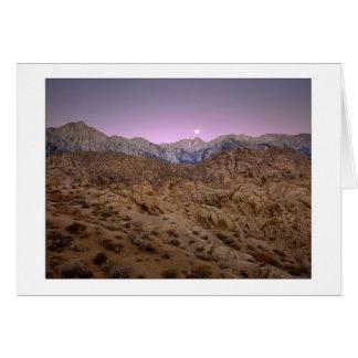 """Moonset On Mt. Whitney"" Card"