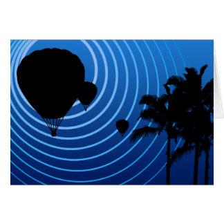 moonshine ballooning greeting card