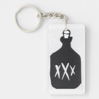 Moonshine Bottle Single-Sided Rectangular Acrylic Key Ring