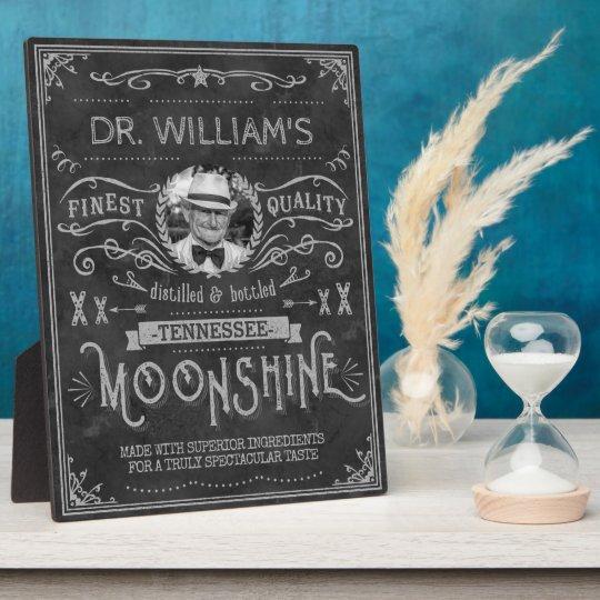 Moonshine Hillbilly Medicine Vintage Custom Grey Plaque