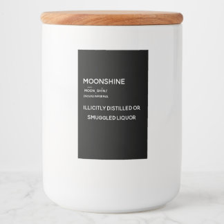Moonshine Label, Definition Food Label