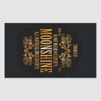 Moonshine label rectangular sticker