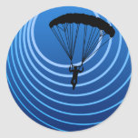 moonshine skydiver classic round sticker