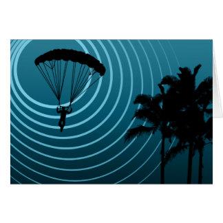 moonshine skydiver greeting card