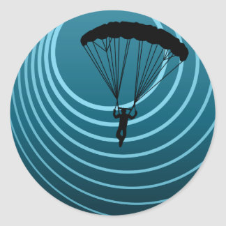 moonshine skydiver round sticker