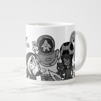 Moonshine & Starfish B&W Jumbo Mug