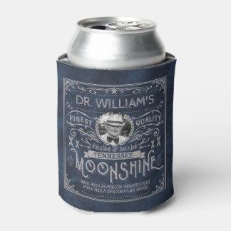 Moonshine Vintage Hillbilly Medicine Custom Blue Can Cooler