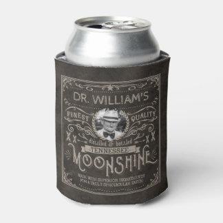 Moonshine Vintage Hillbilly Medicine Custom Brown Can Cooler