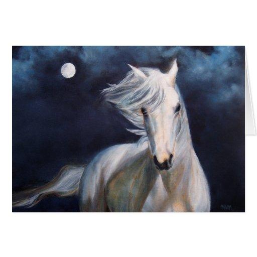 """Moonsilver"" Horse Greeting Card"