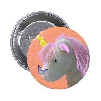 Moonstone the unicorn 6 cm round badge
