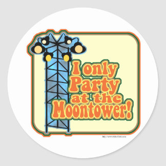 Moontower Party Classic Round Sticker
