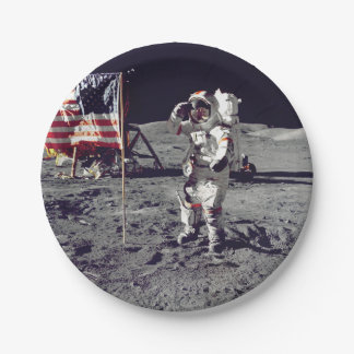 Moonwalk Apollo 17 7 Inch Paper Plate
