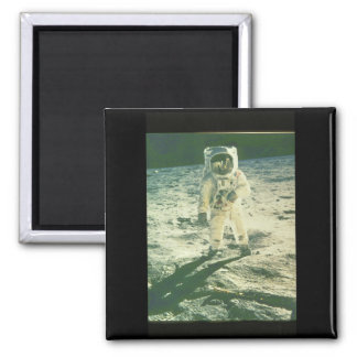 Moonwalk_Space Square Magnet